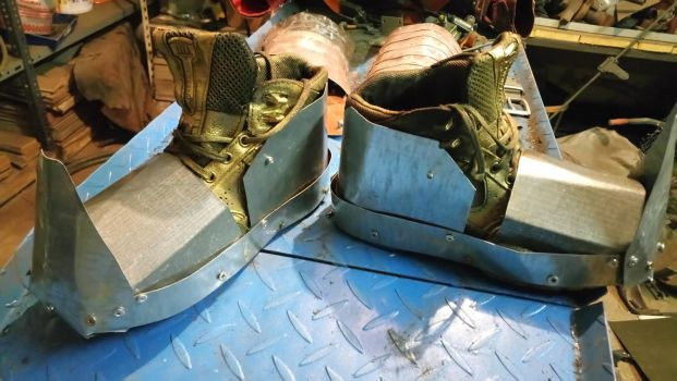 Shoes for my armor by PaperVarren
