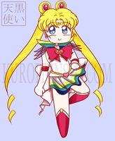 Chibi Sailormoon Super Version by kuroitenshi13