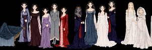 Lord of the Rings Gowns by tata-s-z