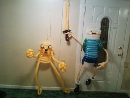 Finn and Jake Balloons by NoOrdinaryBalloonMan
