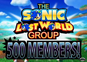 The Sonic Lost World Group - 500 MEMBERS! by MarkProductions