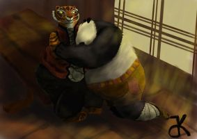 Fat Tigress hugs Po by bk-kam