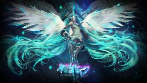Wallpaper ~ Hastune Miku. by Mackaged