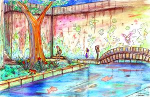 Majora's Mask: Laundry Pool Watercolor by theonlybriman47