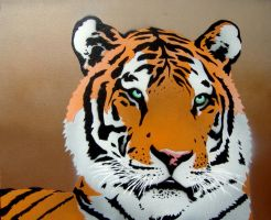 Tiger Painting by Gcrackle1