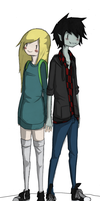 Marshall lee and Fiona by Pistachi