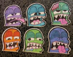 Character Stickers by SoLKoNE
