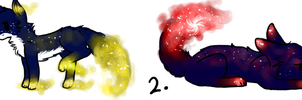 OPEN Nebula Foxes Adopts (points) by Sparkpup28
