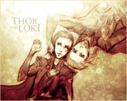 Thor and Loki by Reliah
