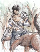 Centaur watercolor doodle by Ageaus