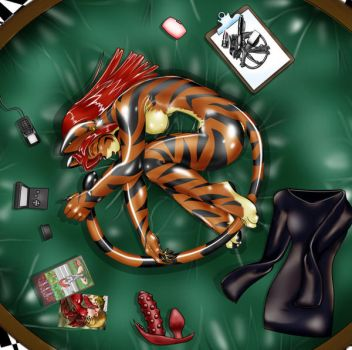 Rubber Tiger by DPRagan