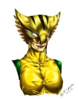 Hawkgirl - Color by Leuka727