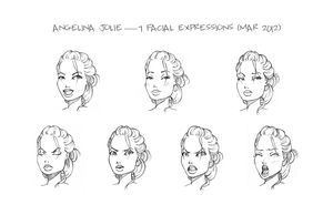 Angelina Jolie - 7 Expressions by delespi