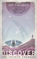 Elite: Dangerous -Asp Explorer Retro Advertisement by Araen