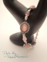 *SOLD* Pink Catseye and Silver by TheSortedBead