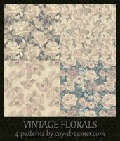 Patterns - Vintage Florals by coy-dreamer