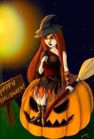 Halloween witch by MoominMonster