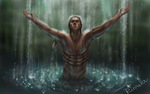 Connor Kenway shower 2 by rinnela