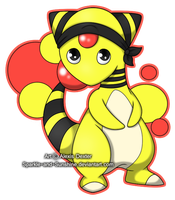 Commission 1 - Ampharos by Sparkle-And-Sunshine