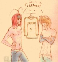 No love for UKE-shirt-Saiyuki by CappuccinoBird