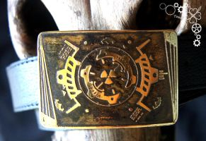 Belt buckle with symbol terran nucklear launch by TimforShade