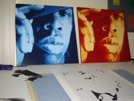 Two Jay-Z's Side by side by nico9948
