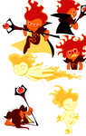Fire Spirit Cookie doodles by purplethinks