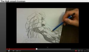 Hulk smash Ironman - Speed Drawing by rodrigobrazz
