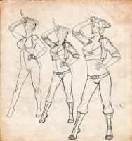 Female Trunks - Sketch process by jamt1989