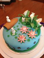 Ghibli Inspired Cake- View 1 by death2fangirlz
