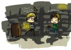 +Pewdie and Toby+ by Chinchikurin