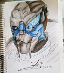 Garrus doodle by Stop-wasting-time