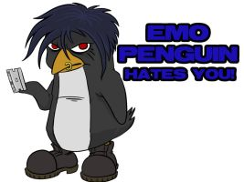 Emo Penguin by ZZoMBiEXIII