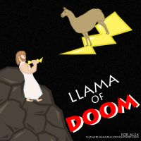 LLAMA OF DOOM by floweringgarlic