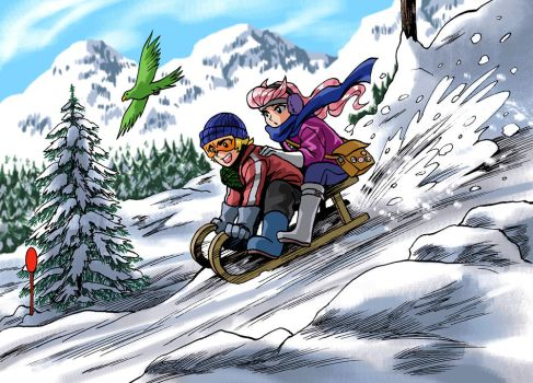 it's totally a red ski slope by rijinks