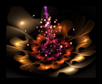 3d flower 1 by moonskulling