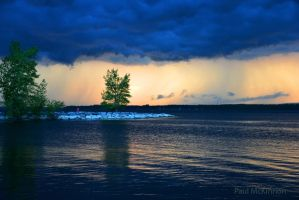 Storm Clouds Over Ottawa River by PaulMcKinnon