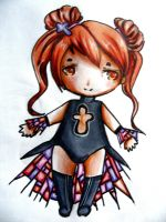 Stained Glass chibi adopt SOLD by RaelXArts