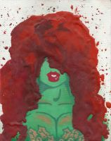 Poison Ivy crayon art by Winged-warrior