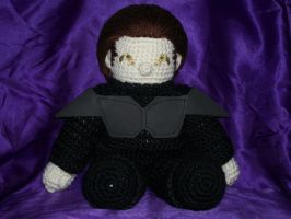 Loreplushie in black armor by MasterPlanner