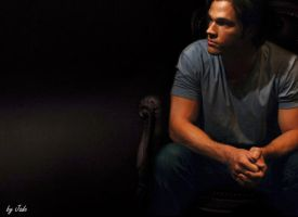 Sam Winchester thinking Wall by monkeyJade