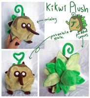 Kikwi plush for Lyndsaygorawr! by SilkenCat
