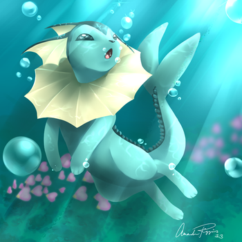 Vaporeon by IceCatDemon