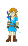 Breath of Wild Link by PattheDrawinist