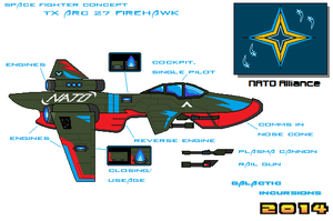 TX ARC 27 Firehawk Fighter by Luckymarine577