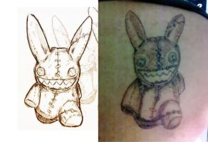 My sketch tattooed by Namh