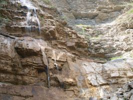 Cliff and the small waterfall|stock by Chari-ot