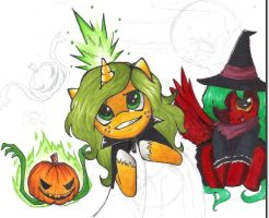 Halloween WIP by Belly-Button-Monster