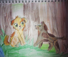 Terabithia Puppies .:Art Trade:. by IvyDevi