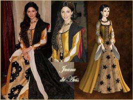 Joan of Portugal with yellow dress by Nurycat